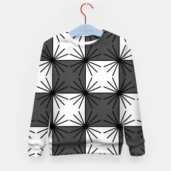 Thumbnail image of Abstract geometric pattern - gray and white. Kid's sweater, Live Heroes