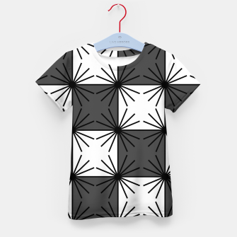 Thumbnail image of Abstract geometric pattern - gray and white. Kid's t-shirt, Live Heroes