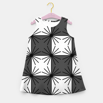 Thumbnail image of Abstract geometric pattern - gray and white. Girl's summer dress, Live Heroes