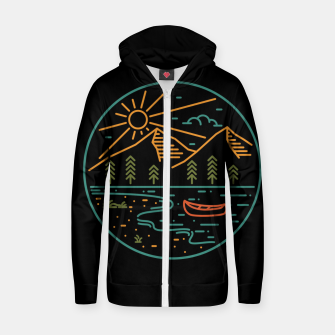 Miniature de image de Nature Lake Zip up hoodie, Live Heroes