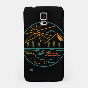 Miniatur Nature Lake Samsung Case, Live Heroes