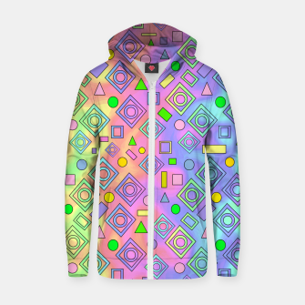 Thumbnail image of Free Spirit Geometric Zip up hoodie, Live Heroes