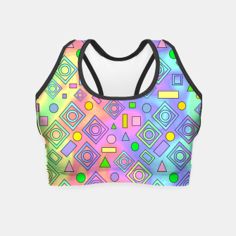 Thumbnail image of Free Spirit Geometric Crop Top, Live Heroes