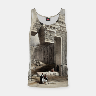Thumbnail image of Carved Stone Doorway at Baalbec, Colored Lithograph by Louis Haghe Tank Top, Live Heroes