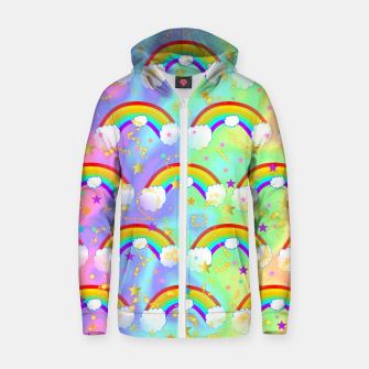 Miniature de image de Dreaming Of Rainbows Zip up hoodie, Live Heroes