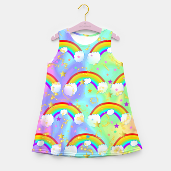 Miniature de image de Dreaming Of Rainbows Girl's summer dress, Live Heroes