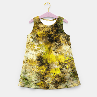 Finding yellow rocks Girl's summer dress thumbnail image