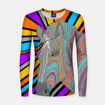 Thumbnail image of Psychedelic Zebra Women sweater, Live Heroes