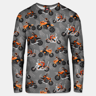 Miniatur Motorcycle Pattern Unisex sweater, Live Heroes