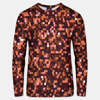 Miniaturka Cinnamon, caramel and almond, brown shades pixels, geometric background Unisex sweater, Live Heroes