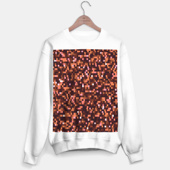 Miniaturka Cinnamon, caramel and almond, brown shades pixels, geometric background Sweater regular, Live Heroes