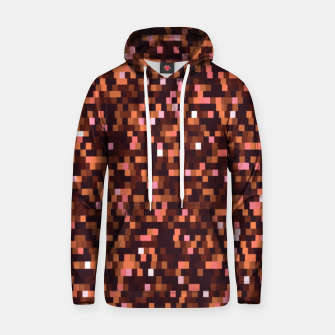 Miniaturka Cinnamon, caramel and almond, brown shades pixels, geometric background Hoodie, Live Heroes
