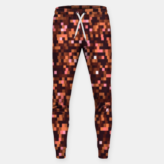 Miniaturka Cinnamon, caramel and almond, brown shades pixels, geometric background Sweatpants, Live Heroes