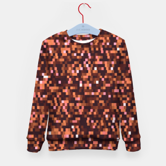 Miniaturka Cinnamon, caramel and almond, brown shades pixels, geometric background Kid's sweater, Live Heroes