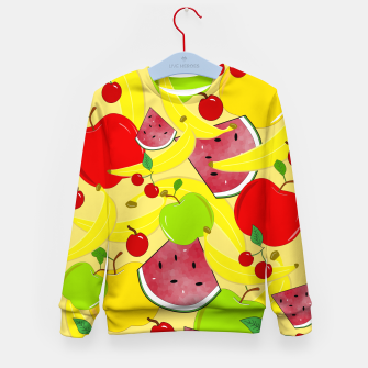 Thumbnail image of Fruit Mixture Kid's sweater, Live Heroes