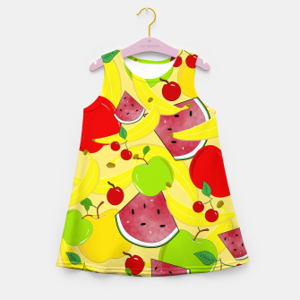 Miniatur Fruit Mixture Girl's summer dress, Live Heroes