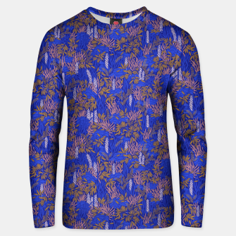 Thumbnail image of Electric blue tropical lush Unisex sweater, Live Heroes