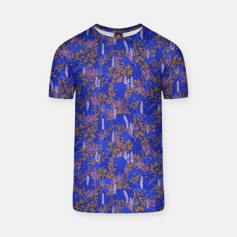 Thumbnail image of Electric blue tropical lush T-shirt, Live Heroes
