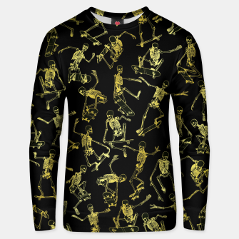Thumbnail image of Grim Ripper Skater GOLD Unisex sweater, Live Heroes