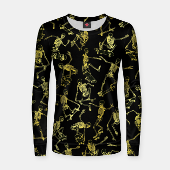 Thumbnail image of Grim Ripper Skater GOLD Women sweater, Live Heroes