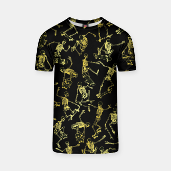 Thumbnail image of Grim Ripper Skater GOLD T-shirt, Live Heroes