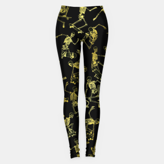 Thumbnail image of Grim Ripper Skater GOLD Leggings, Live Heroes