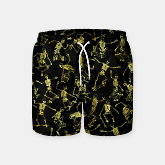 Thumbnail image of Grim Ripper Skater GOLD Swim Shorts, Live Heroes