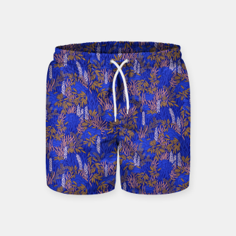 Thumbnail image of Electric blue tropical lush Swim Shorts, Live Heroes