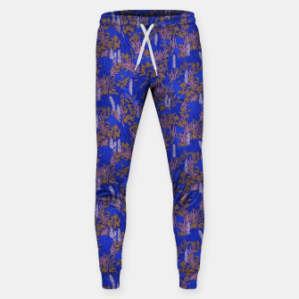 Thumbnail image of Electric blue tropical lush Sweatpants, Live Heroes
