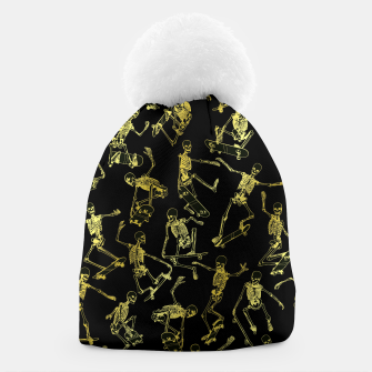Thumbnail image of Grim Ripper Skater GOLD Beanie, Live Heroes
