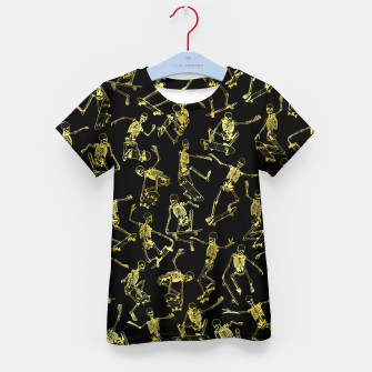 Thumbnail image of Grim Ripper Skater GOLD Kid's t-shirt, Live Heroes
