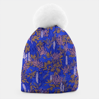 Thumbnail image of Electric blue tropical lush Beanie, Live Heroes