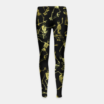 Thumbnail image of Grim Ripper Skater GOLD Girl's leggings, Live Heroes