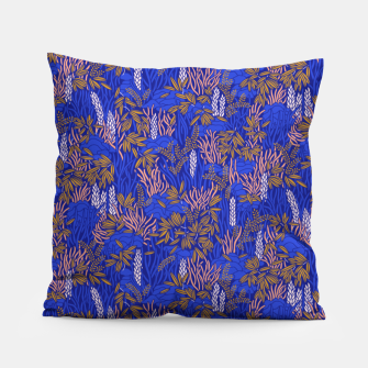 Miniatur Electric blue tropical lush Pillow, Live Heroes