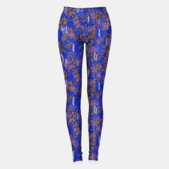 Thumbnail image of Electric blue tropical lush Leggings, Live Heroes
