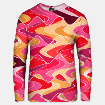 Thumbnail image of Energy waves, vibrant colors, joyful fuchsia print Unisex sweater, Live Heroes