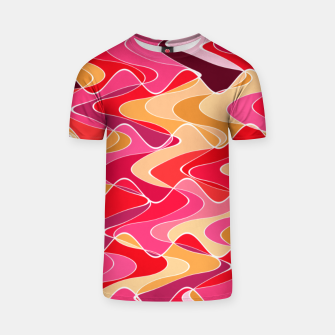 Thumbnail image of Energy waves, vibrant colors, joyful fuchsia print T-shirt, Live Heroes