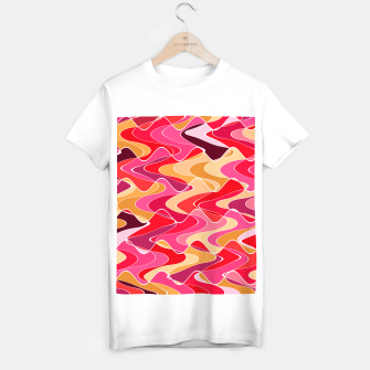 Miniatur Energy waves, vibrant colors, joyful fuchsia print T-shirt regular, Live Heroes