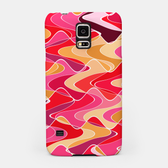 Thumbnail image of Energy waves, vibrant colors, joyful fuchsia print Samsung Case, Live Heroes