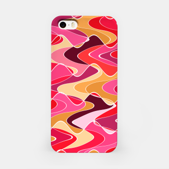 Thumbnail image of Energy waves, vibrant colors, joyful fuchsia print iPhone Case, Live Heroes