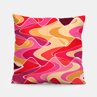 Thumbnail image of Energy waves, vibrant colors, joyful fuchsia print Pillow, Live Heroes