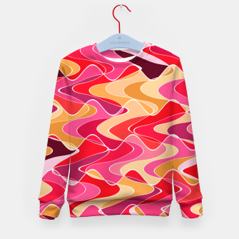 Thumbnail image of Energy waves, vibrant colors, joyful fuchsia print Kid's sweater, Live Heroes