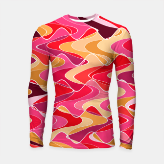 Thumbnail image of Energy waves, vibrant colors, joyful fuchsia print Longsleeve rashguard , Live Heroes