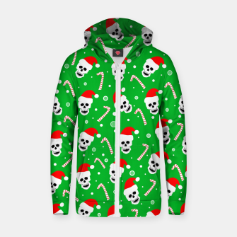 Miniatur Skulls And Candy Canes Zip up hoodie, Live Heroes