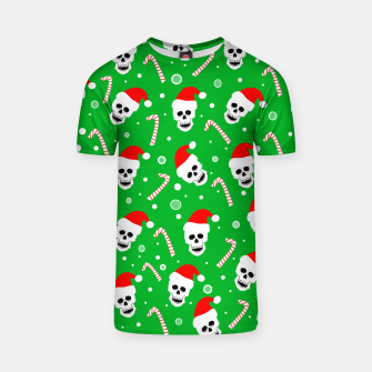 Miniatur Skulls And Candy Canes T-shirt, Live Heroes