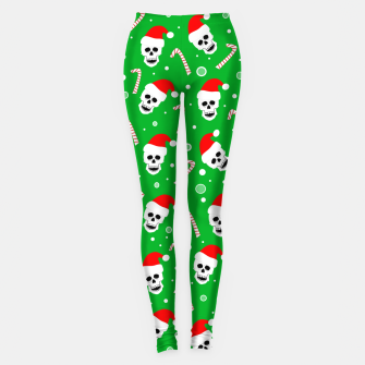 Miniatur Skulls And Candy Canes Leggings, Live Heroes