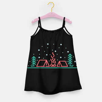 Miniatur Camping Night Girl's dress, Live Heroes