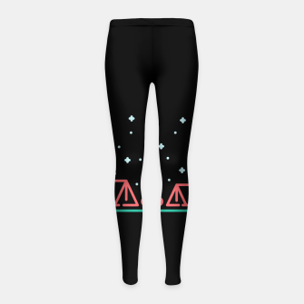 Thumbnail image of Camping Night Girl's leggings, Live Heroes