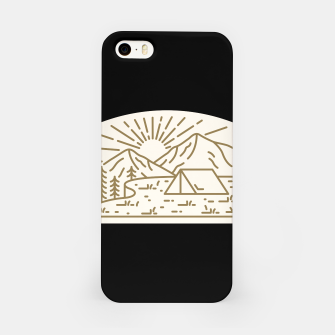 Miniatur Sunrise Camp iPhone Case, Live Heroes