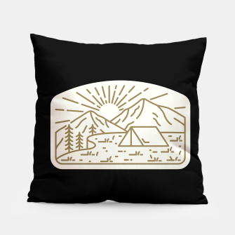 Miniatur Sunrise Camp Pillow, Live Heroes